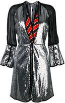 Marco De Vincenzo panelled metallic dress - women - Silk/Polyamide/Polyester/Viscose - 40