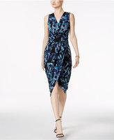 Rachel Roy Berry Bush Surplice Wrap Dress