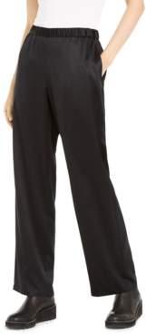 Eileen Fisher Satin Straight-Leg Pants