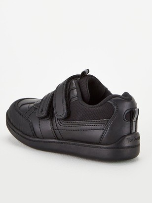 Very Toezone at Boys Twin Strap Leather School Shoes - Black