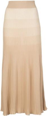 Nicholas Gradient Ribbed Knit Midi Skirt