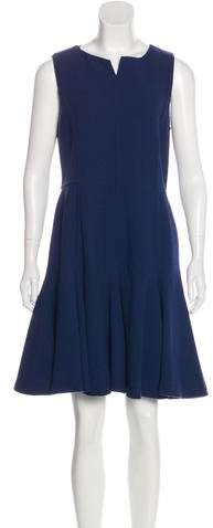 Armani Collezioni Sleeveless Wool Knee-Length Dress