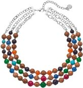 Dana Buchman Wooden Bead Layered Necklace