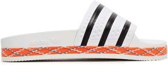 adidas Adilette New Bold Striped Embossed Rubber Slides