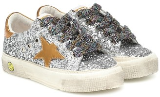 Golden Goose Kids May glitter sneakers
