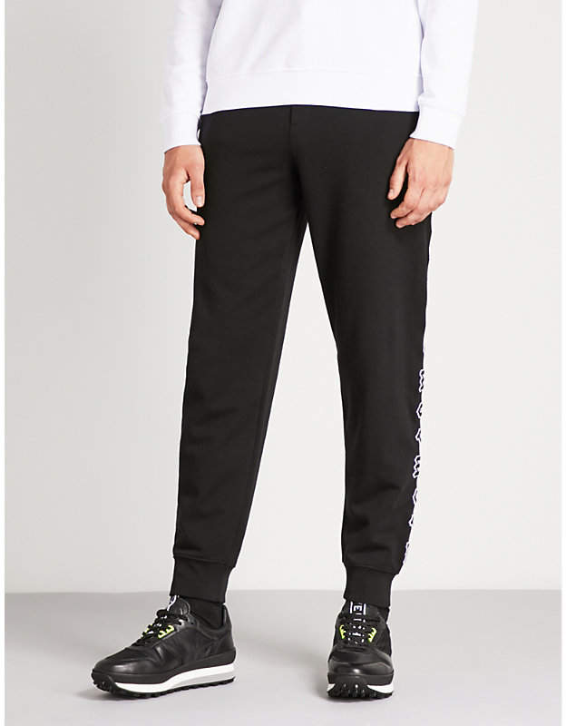 McQ Logo-embroidered cotton-jersey jogging bottoms
