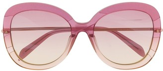 Emilio Pucci Butterfly Frame Wave-Effect Sunglasses