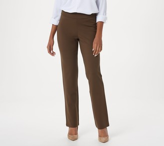 Linea By Louis Dell'olio by Louis Dell'Olio Petite Pull-On Super Ponte Knit Pants