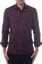 Bertigo Red Camo Printed Button Front Shirt
