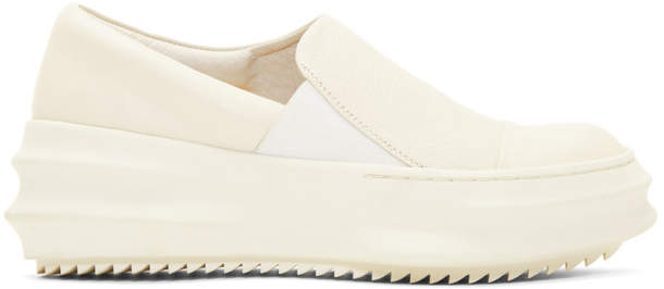 D.gnak By Kang.d Off-White Slip-On Sneakers
