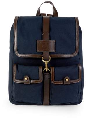 Cole Haan Matthews Leather-Trim Twill Backpack