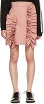 MSGM Pink Ruffle Miniskirt