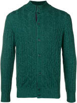 Doriani Cashmere cable-knit fitted cardigan