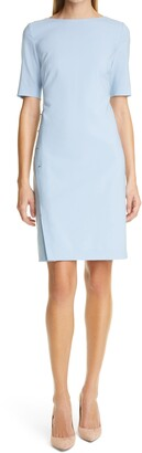 HUGO BOSS Diwoma Studded Wool Blend Sheath Dress