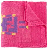 Fendi 'Robot Monster' scarf - kids - Virgin Wool - One Size