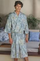 Men's Hand Made Batik Robe, 'Bull Snake'