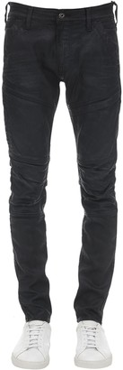 G Star Rackam 3d Skinny Waxed Denim Jeans