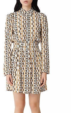 Maje Rikole Printed Shirt Dress