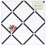 JoJo Designs Sweet White Navy Hotel Photo Memo Board