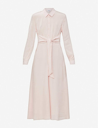 Claudie Pierlot Belted woven midi dress