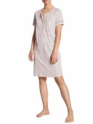 Calida Springtime Women's Sleep Shirt Short Sleeve Length 95 cm - Multicolour - Medium