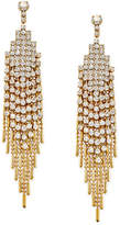 Charter Club Gold-Tone Crystal Pavé Swing Chain Drop Earrings, Only at Macy's