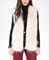 Off-White Faux Fur Vest