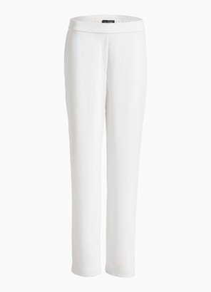 St. John Stretch Viscose Cady Cropped Pants
