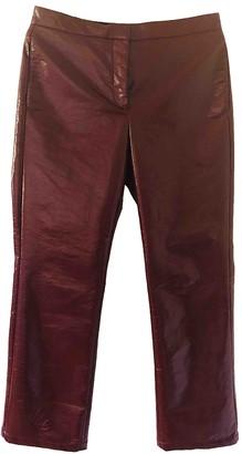 Dagmar Burgundy Trousers for Women
