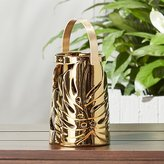 CB2 Monstera Small Gold Leaf Lantern
