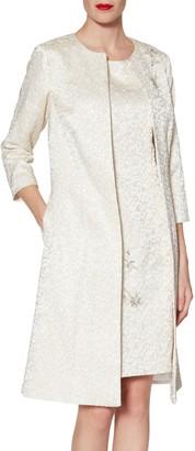Gina Bacconi Marion Jacquard Coat, Ivory