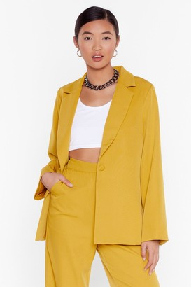 Nasty Gal Womens Whatever Suits Relaxed Blazer - yellow - 6