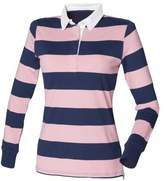 Front Row Womens/Ladies Striped Rugby Polo Shirt (XL)