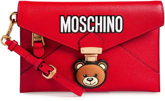 Moschino Bear Faux Leather Wristlet