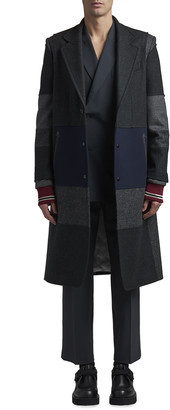 Valentino Men's Patched Cotton Overcoat
