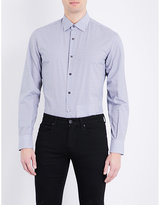 Salvatore Ferragamo Regular-fit Geometric-print Cotton Shirt