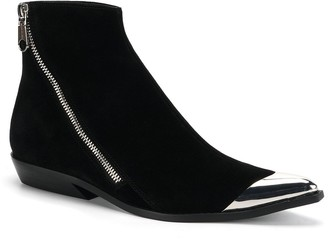 Calvin Klein Jeans Anneke Metal Tip Zip Boots - Black