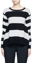 Stella McCartney Stripe silk cashmere-wool combo sweater