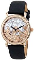 Stuhrling Original Women's 715.03 Vogue Jezebel Analog Display Swiss Quartz Black Watch