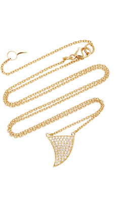 ONDYN Great Wave 14K Gold and Diamond Necklace