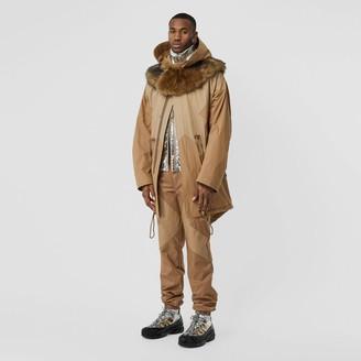 Burberry Detachable Hood Cotton Blend Parka