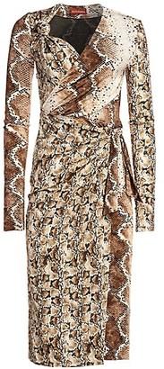 Altuzarra Dinah Snakeskin-Print Midi Dress