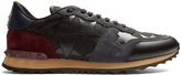 Valentino Rockrunner leather and suede trainers