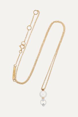 Delfina Delettrez 18-karat Yellow And White Gold Diamond And Pearl Necklace - one size