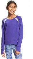 Old Navy Mesh-Trim Fleece Sweatshirt for Girls