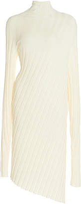 Boyarovskaya Asymmetric Ribbed-Knit Sweater Dress