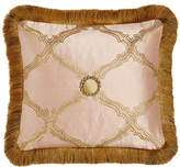 """Sweet Dreams Versailles Reversible Pillow with Fringe, 15"""" x 14"""""""