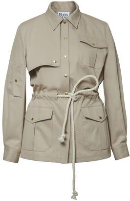 Polly Safari Jacket In Sandy Beige