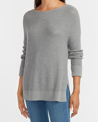 Express Thermal Stitch Tunic Sweater