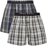 Boss Hugo Boss 2 Pack Woven Boxer Shorts Multi